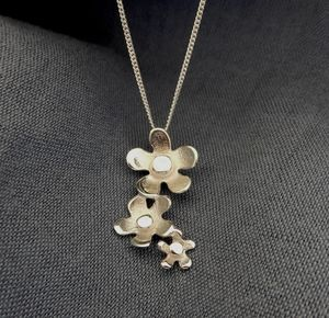 Flower Cluster Silver Necklace