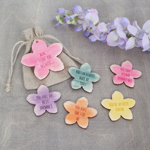 I Love You Because… Bag Of Flower Tokens - gifts for mothers
