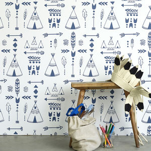 Teepees Wallpaper - home decorating