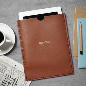 Hidden Message Leather Case For iPad