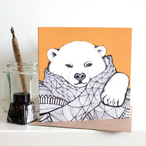 Pack Of Four Cosy Bear Gift Card