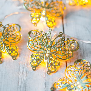 Gold Butterfly Fairy Lights