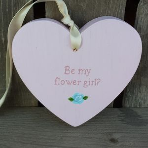 Personalised Rose Bridesmaid Heart - wedding favours