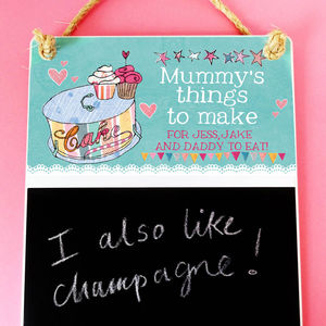 Personalised Kitchen Chalk Board - chalkboards