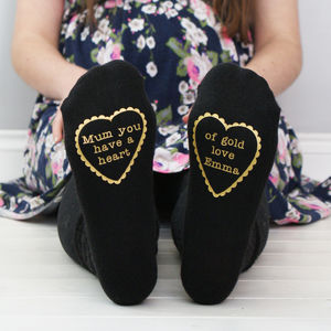 Personalised Women's Heart Of Gold Socks
