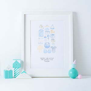 Personalised New Born Baby/Christening Print - for new mums