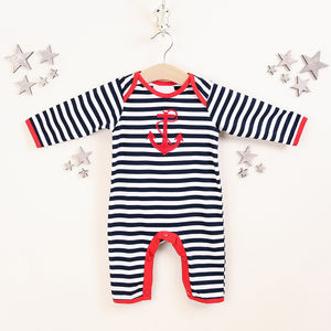 Anchor Nautical Babygrow - clothing