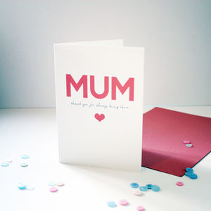 'Always There' Card For Mum
