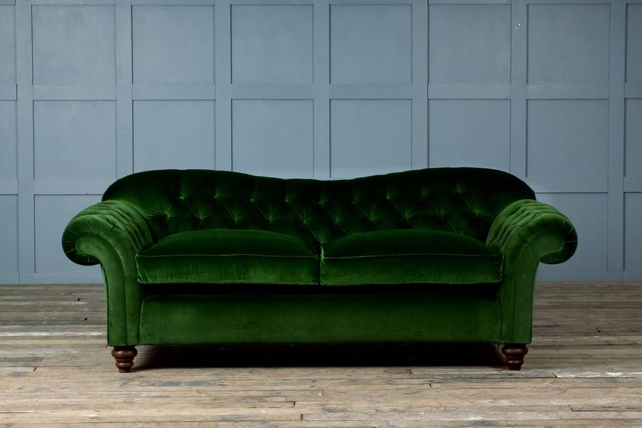 Wonderful Old Bessie Velvet Chesterfield Sofa