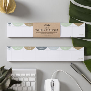 Mini 'Keyboard' Weekly Planner Pad : Matt Gold - stationery-lover