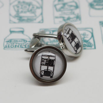 Illustrated London Bus Cufflinks