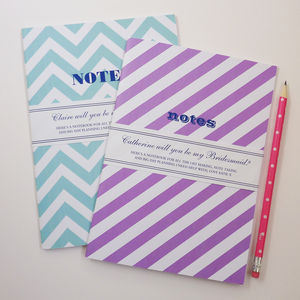 Be My Bridesmaid Notebook - stationery