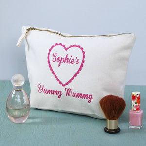 Personalised Yummy Mummy Toiletry Bag - bathroom