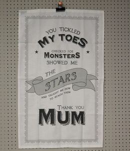 'Thank You Mum' Tea Towel