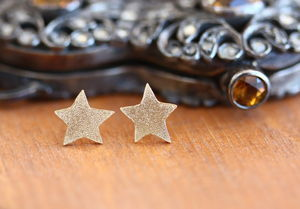 Handmade Gold Plated Star Studs