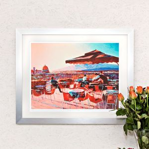 Evening Over Florence, Italy Print