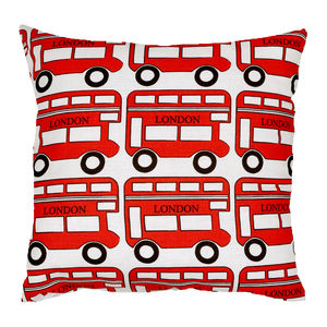London Bus Cushion - decorative accessories