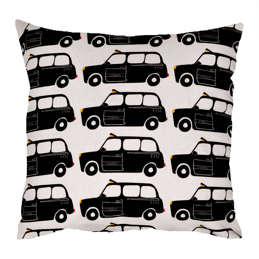 London Black Taxi Cab Cushion