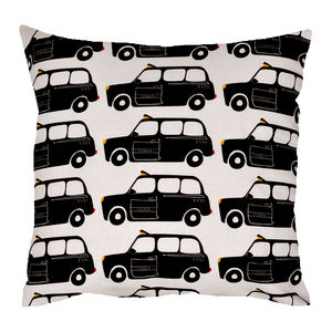 London Black Taxi Cab Cushion - cushions