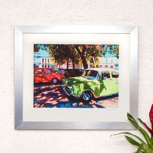 Red And Green, Havana Print