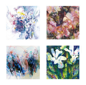 Fine Art Watercolour Gift Cards Pack Three - birthday cards