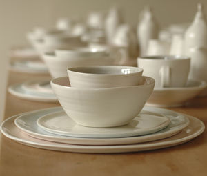 Handmade Porcelain Dinner Set - natural materials