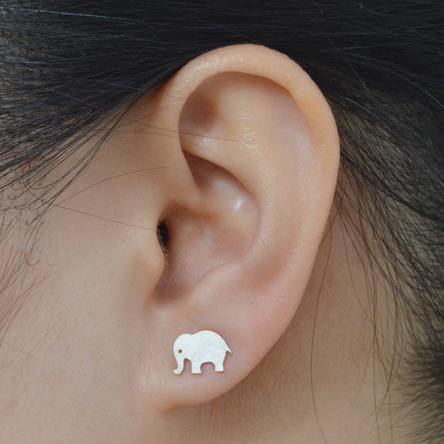 pin lover lucky sterling elephant jewelry earrings silver fun african animal gift