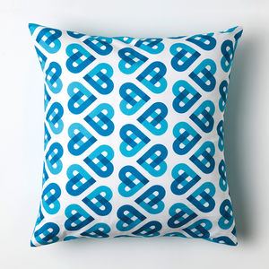 Cordello Heart Cushion - patterned cushions