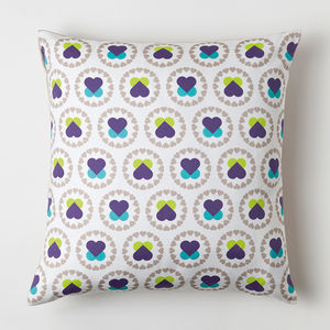 Hearts And Flowers Cushion - cushions