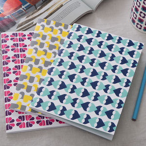 Set Of Three Cordello Heart Notebooks