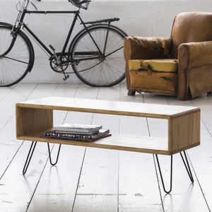 Ash Midcentury Modern Hairpin Leg Tv Stand - furniture
