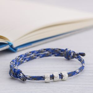 Men's Personalised Marine Cord Bracelet - birthday gifts