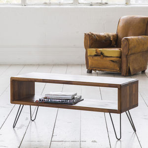 Iroko Midcentury Modern Hairpin Leg Tv Stand - furniture