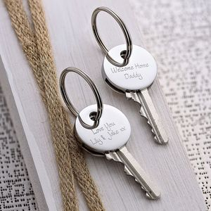 Men's Personalised Key Cover - keyrings