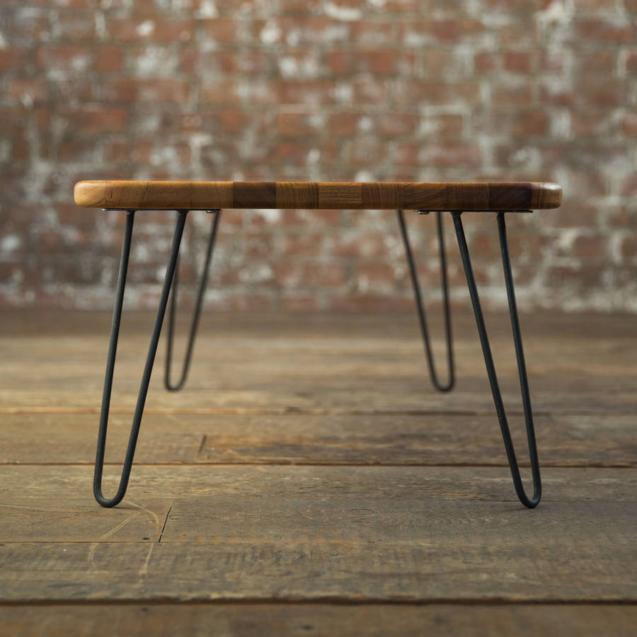 Iroko Hairpin Leg Coffee Table By Biggs Quail