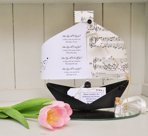 'How Long Will I Love You' Paper Boat Keepsake