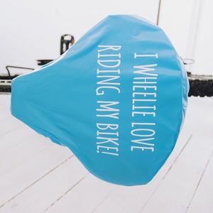 'Wheelie Love' Bike Seat Rain Cover - stocking fillers under £15