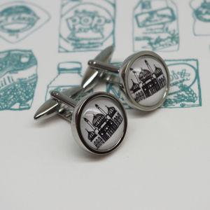 Illustrated Brighton Royal Pavilion Cufflinks - accessories