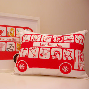 Last One Seconds Sale London Bus Cushion Cover
