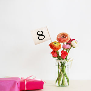 Flag Table Numbers - table decorations