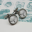 Illustrated Seagull Cufflinks