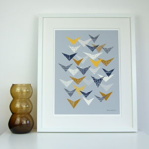Abstract Bird Giclee Print - posters & prints