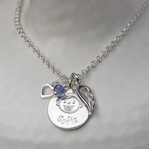 Personalised Silver New Mum Charm Necklace