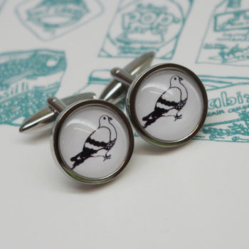 Illustrated Pigeon Cufflinks