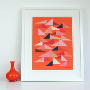 Textured Triangle Giclee Print - modern & abstract