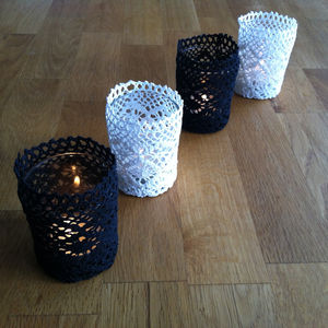Crochet Tealight Holder - candles & candlesticks