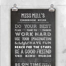 Personalised Chalkboard Teacher's Print