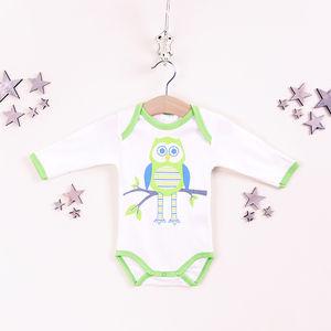 Ollie The Owl Organic Babygrow - clothing