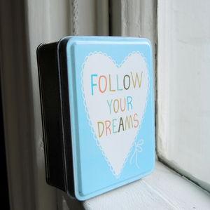 Follow Your Dreams Blue Trinket Tin
