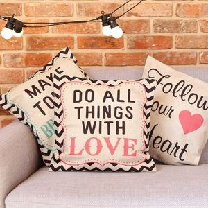 Hessian Quote Cushion